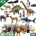 TOMY Modelo Animal Simulação de Dinossauro de Brinquedo Modelo Animal Selvagem de Móveis Crianças Animais Marinhos Tubarão Animal Elefante Bonecas
