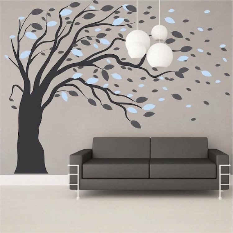 Online Shop ModishBlowing Tree Wall Art Stickers Artistic Design - artistic wall design