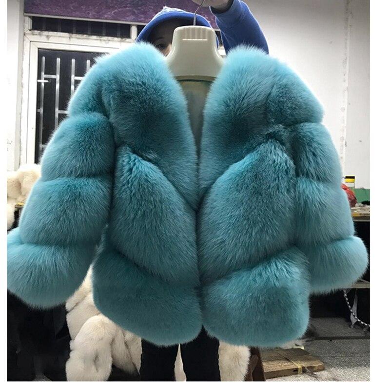 FURSARCAR 2018 Новый Настоящее Меховая куртка Для женщин зимой меха лисы Роскошные теплые модные твил Дизайн короткие натуральным Меховая куртка