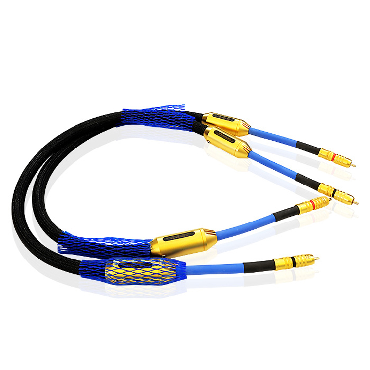 Free DHL shipping 2meter Siltech G7 Prince interconnect cable Audio RCA cable silver-gold Original box