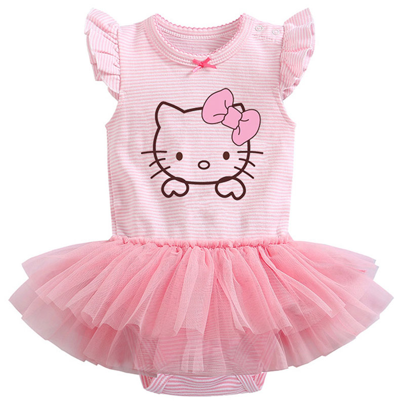 Baby Girls 1 Year Birthday Party Princess Dress For Girls Hello Kitty Unicorn Tutu Dresses Newborn Casual Vestidos Child Clothes