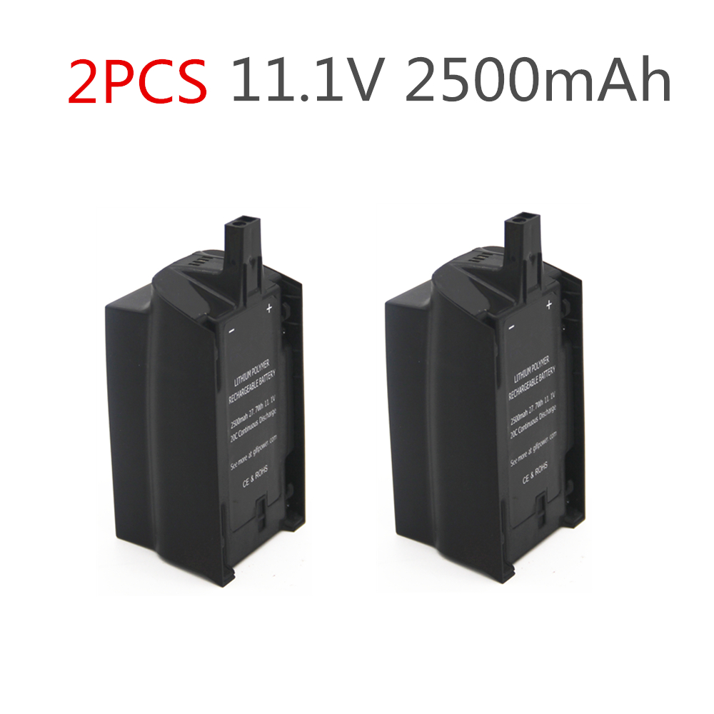 2PCS 2500mAh 11 1V For Parrot Bebop Drone 3 0 Upgrade Capacity Lipo Battery  Drone Backup Replacement Battery