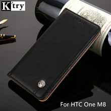 K'TRY For HTC One M8 Case Wallet PU Leather Case For HTC M8 Card Slot Flip Cover with Stand
