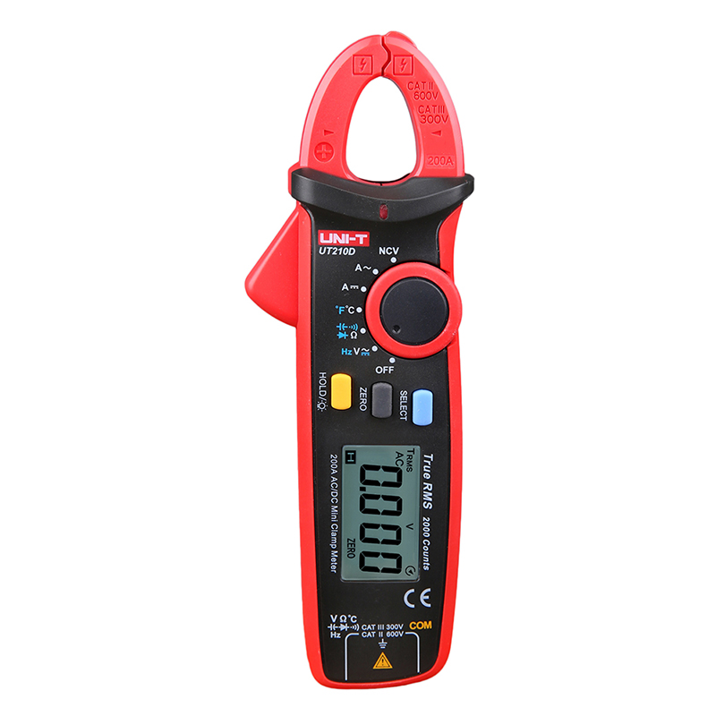 UNI-T Mini Digital Clamp Meter UT210D Ture RMS Auto Range Capacitance Clamp Multimeters Megohmmeter Temperature Multitester