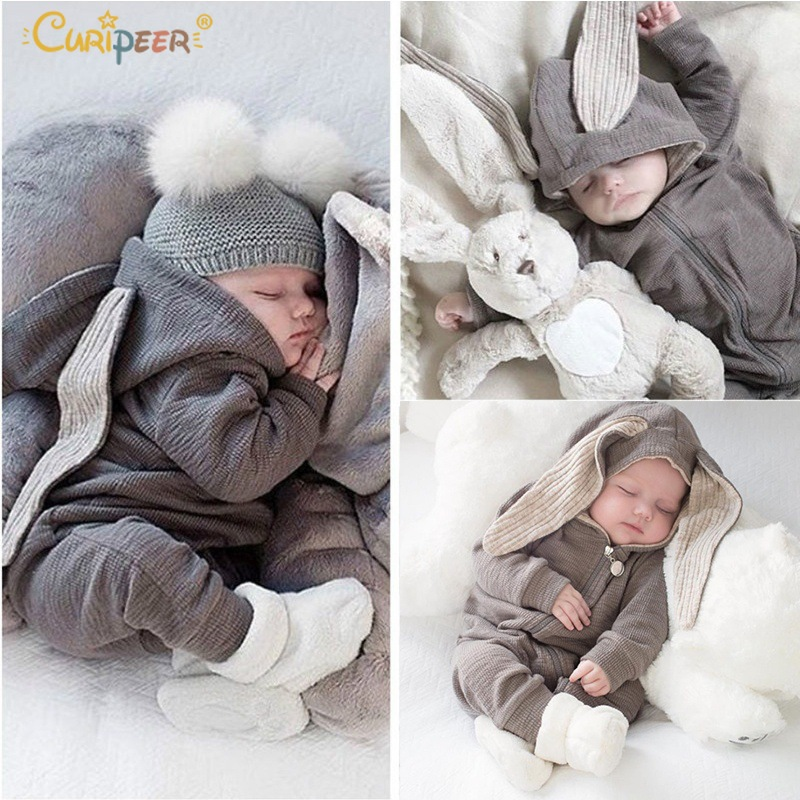 2019 Easter Baby   Rompers   Infant 3D Bunny Ear Newborn Baby Clothes Boy Girls   Rompers   Spring Cute bebe Jumpsuit Babes   Rompers