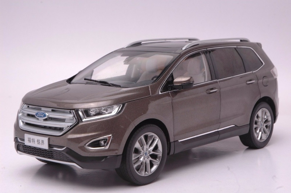 1:18 Diecast Model for Ford Edge 2016 Brown SUV Alloy Toy Car Miniature Collection Gift 1 18 vw volkswagen teramont suv diecast metal suv car model toy gift hobby collection silver
