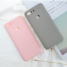 Solid Color Silicone Couples Cases  For OPPO R15 R15Pro Cute Simple Fashion Phone Case NEW