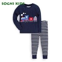 Baby Boys Girls Pajamas Set Children Clothing Sleepwear For 2018 Brand Cartoon Clothes Toddler Long Sleeve