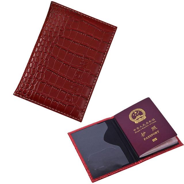 fb80d8ab74f9 US $1.79 54% OFF|Russian Crocodile Leather Passport Holder Men Travel  Passport Cover Women Passport Case Passport Protective for Travle  Document-in ...