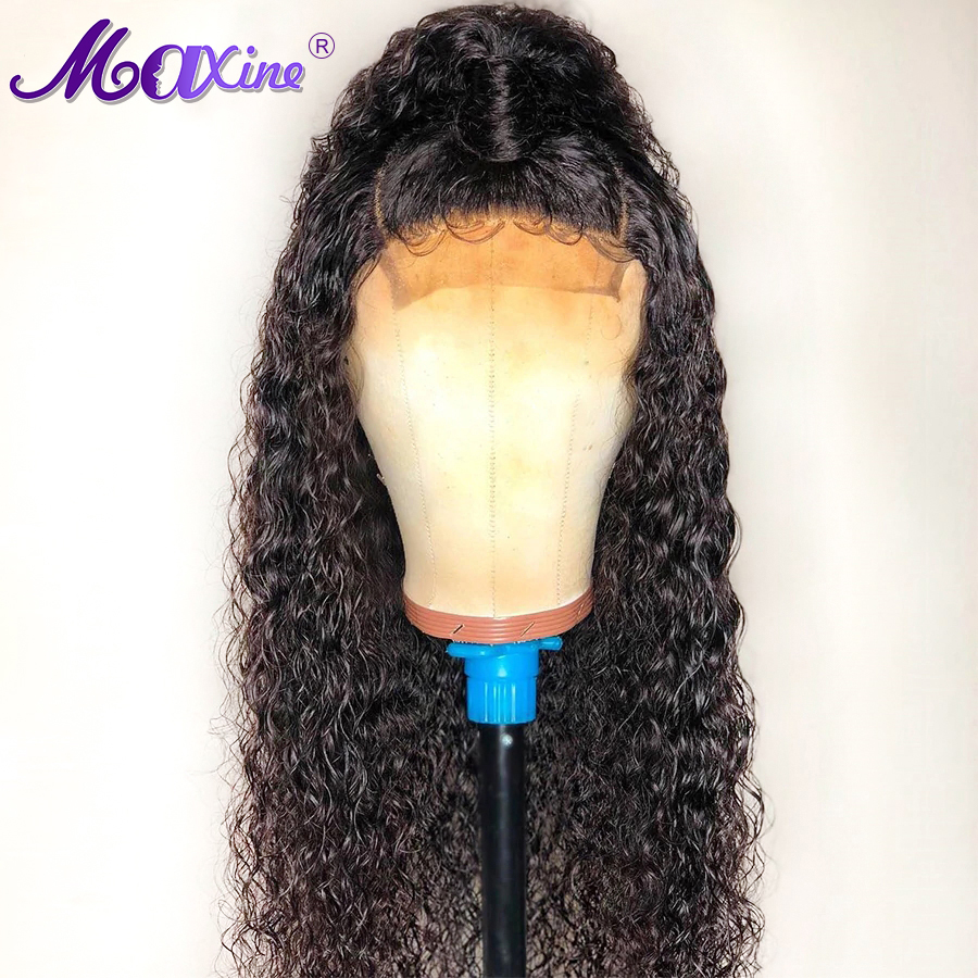 Curly Human Hair Wig 360 Lace Frontal Wig Pre Plucked With Baby Hair Maxine Lace Frontal