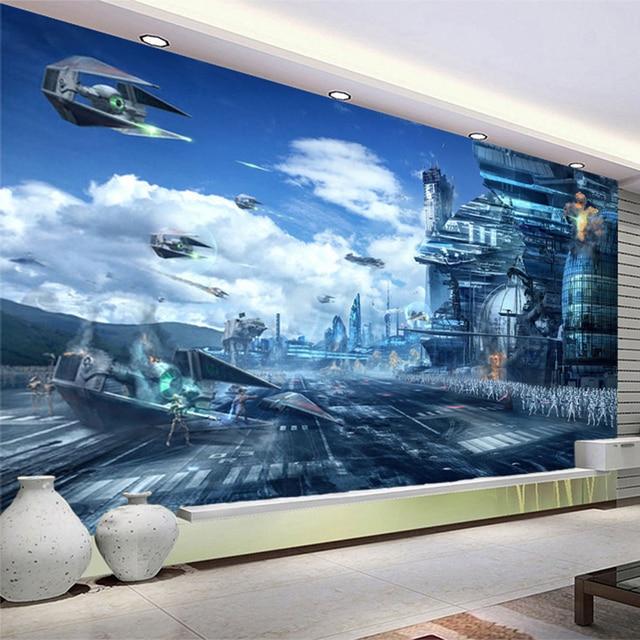 HD Fantasy Creative Mural Star Wars Science Fiction Photo Wallpaper Kidu0027s  Bedroom Living Room 3D Non