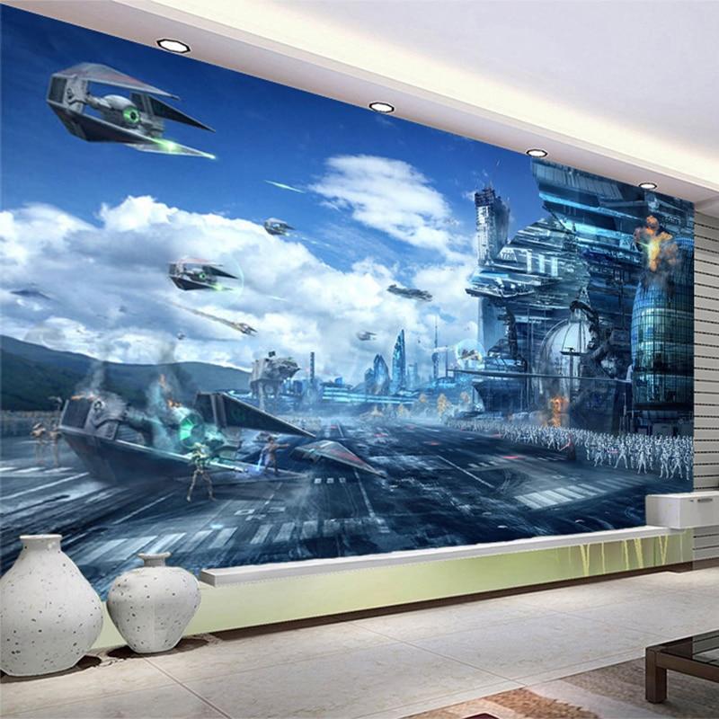 Charming HD Fantasy Creative Mural Star Wars Science Fiction Photo Wallpaper Kidu0027s  Bedroom Living Room 3D Non Woven Papier Peint Enfant