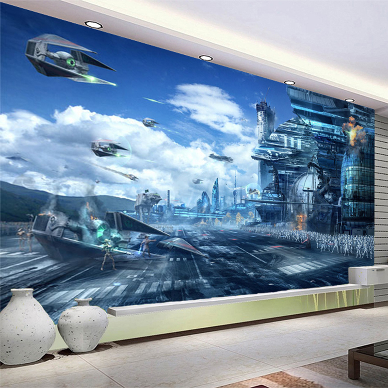 online buy wholesale star wars bedroom wallpaper from china star wars bedroom wallpaper. Black Bedroom Furniture Sets. Home Design Ideas