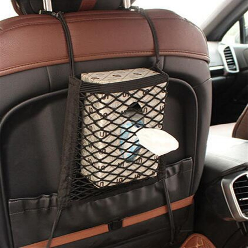 Car Styling Car Organizer Seat Back Storage Elastic Car Mesh Net For Nissan March Murano Geniss,Juke,Almera/Infiniti all Series