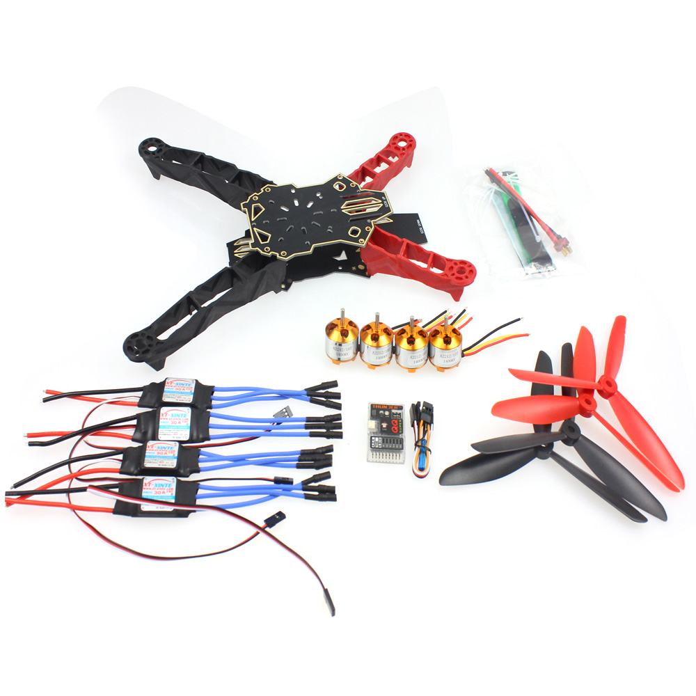 Q330 Across Frame QQ Super Controller 1400KV Motor 30A ESC Propeller Set for DIY RC Drone Quadrocopter Aircraft F11797-H комплект из 3 пар носков с блестящим рисунком