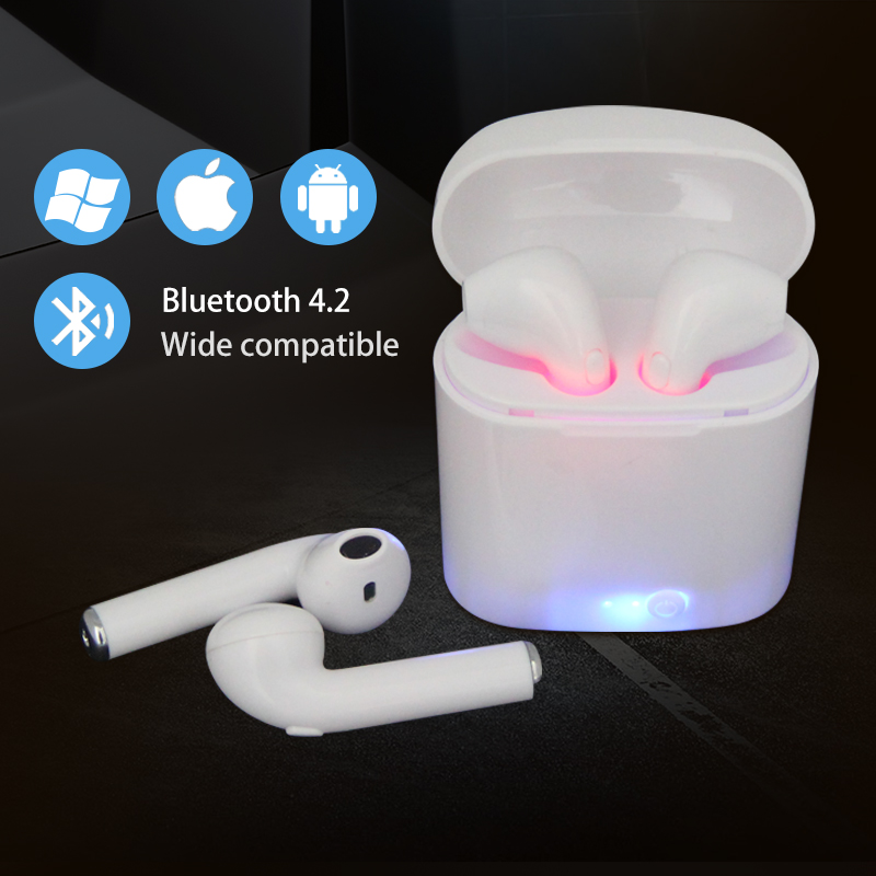 MOONSTAR i7s TWS Mini Wireless Bluetooth Earphone Stereo Earbud Headset With Charging Box Mic For All