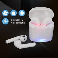 MOONSTAR i7s TWS мини беспроводной Bluetooth наушники стерео вкладыши гарнитура с зарядным устройством Mic для всех смартфонов air стручки