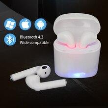 Беспроводные наушники i7s TWS мини-вкладыши беспроводные Bluetooth наушники стерео наушники с микрофоном для всех смартфонов air pods