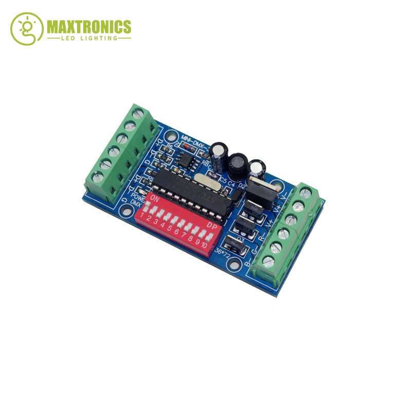 Wholesale 1 PCS DC5V-24V mini 3CH Easy dmx LED Controller RGB dmx512 decoder good group diy kit led display include p8 smd3in1 30pcs led modules 1 pcs rgb led controller 4 pcs led power supply