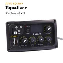 Joyo EQ MP3 Akoestische Gitaar Equalizer 3 Band Eq Pickup Met MP3 En Tuner Functie Lcd Display Bass Middle Treble volune Passen