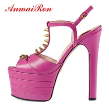 ANMAIRON Women Fashion  Elegant Sandals High Heel Womens Shoes Woman 2018 Summer Size 33-42 LY514