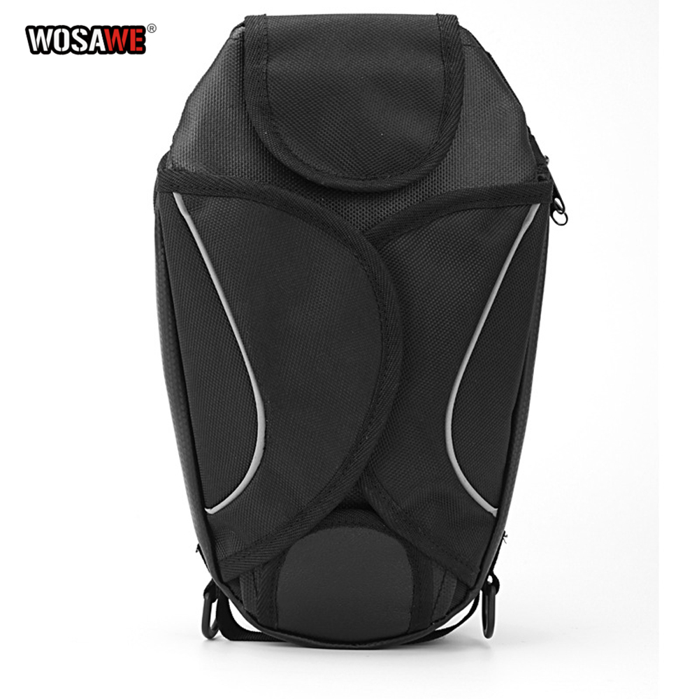 Image 4 - WOSAWE Motorcycle Tank Bags Magnetic Cell Phone GPS Navigation oil Tank Bag Fixed Straps Shoulder Bag Tail Bag With Rain Cover-in Tank Bags from Automobiles & Motorcycles