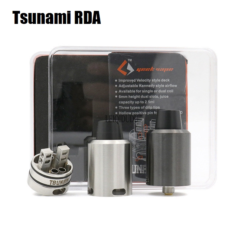 Tsunami RDA with Glass Window Atomizer Clone DIY Coil Drip Tip 510 Thread font b Electronic