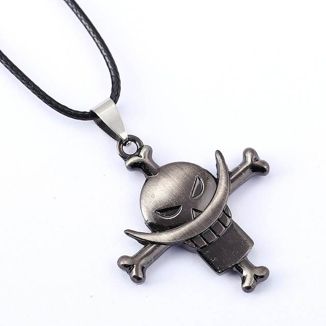 ONE PIECE Necklace White beard Edward Newgate Anime Pendant Necklace Friendship Men Women Jewelry Choker Accessories