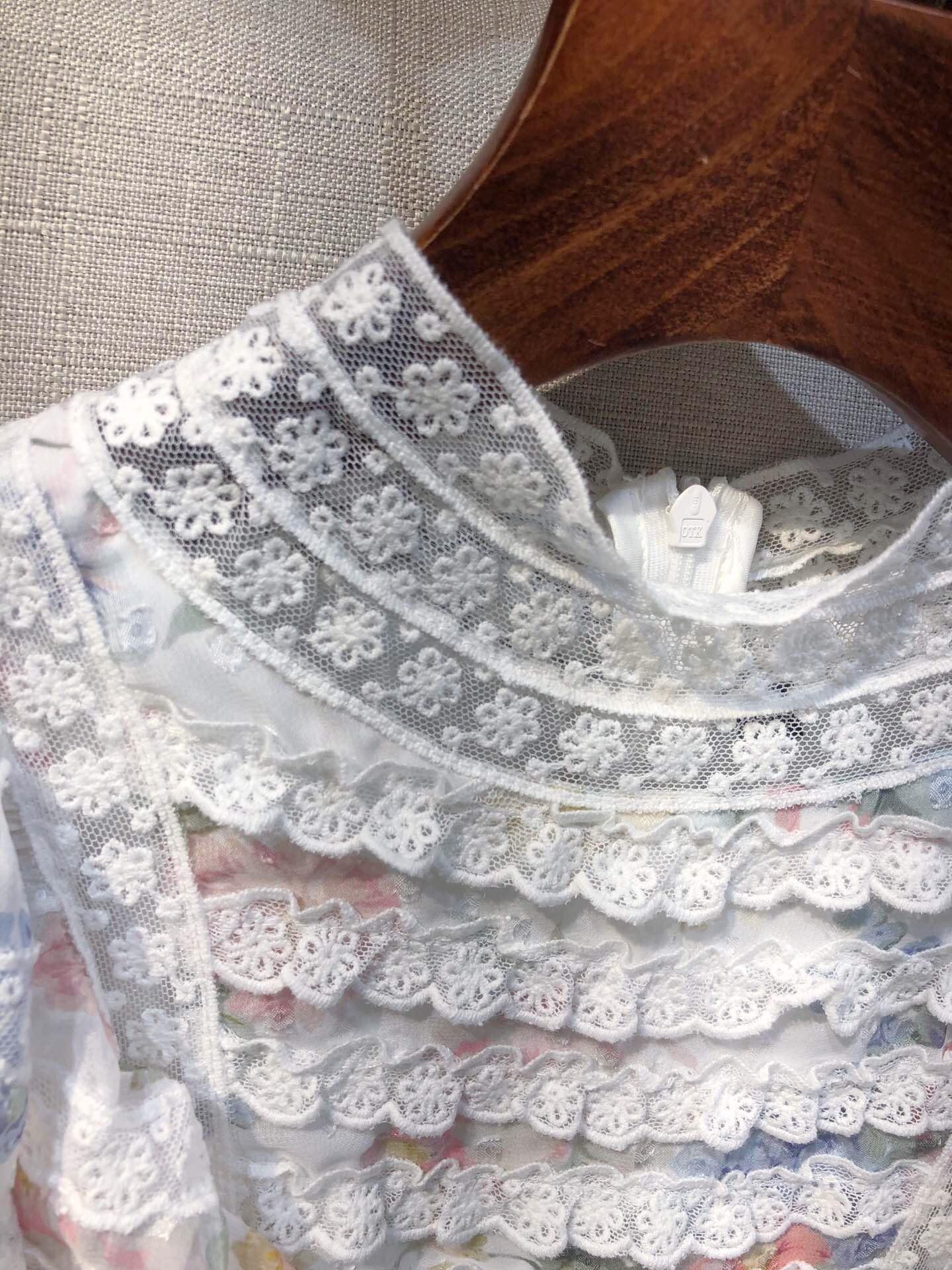 2019 Couture Irrégulière Tailles Haute Taille Robe Femmes 3 Impression 1 Dentelle De Pour Mode Nouvelle Blue Couleur Vêtements IBqrI