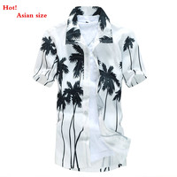 Men S Tropical Hawaiian Shirts Full Floral Short Sleeve Casual Loose Large Size Beach Party Shirts