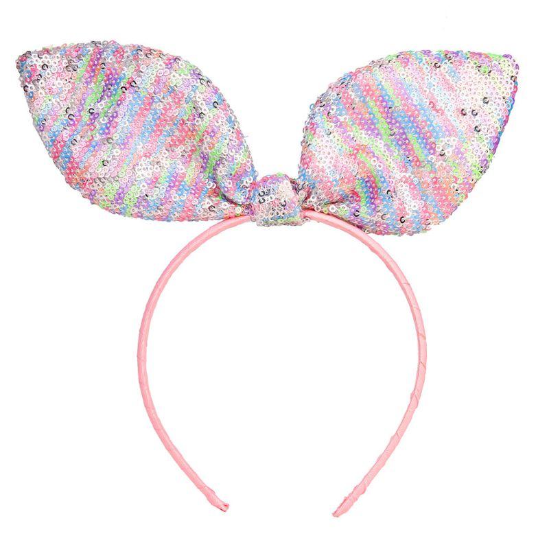Fashion Sequins Hair Accessories Cartoon Head Buckle Cute Princess Birthday Headband Girl Children Hairband New