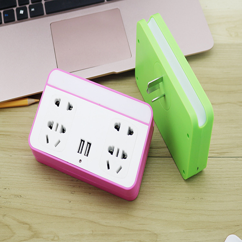 New 10A 250V Multifunctional Portable Home Travel Power Adapter Plug with USB Wireless Socket With Led