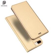 DUX DUCIS Flip iPhone için kılıf 7 Durumda 8 Artı Lüks Coque deri cüzdan Kart Kapak iPhone 7 8 6 6 s artı iPhone7 Hoesje Etui