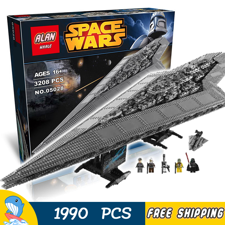 3208pcs New Space Wars Super Star Destroyer 05028 Assemble Model Building Blocks Big Gifts Toys Bricks Compatible With Lego lepin 05028 3208pcs star wars building blocks imperial star destroyer model action bricks toys compatible legoed 75055
