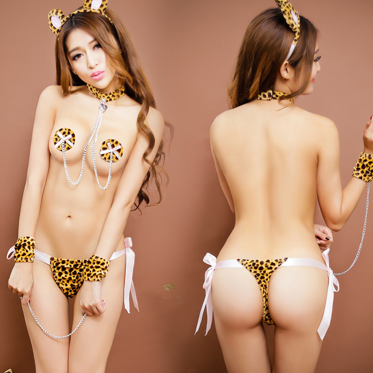 New Sexy Lingerie Exotic Apparel Role Playing Leopard Costumes Sexo Game Uniforms Suits Cosplay Erotic Lingerie Free Shipping