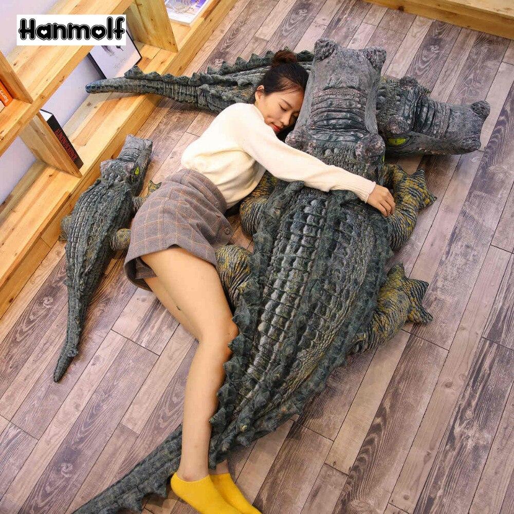 Реалистичная плюшевая кукла из крокодиловой кожи с закрытым ртом, декор для детской комнаты, мягкая плюшевая игрушка для океанских животных, 5 размеров|Мягкие игрушки животные|   | АлиЭкспресс