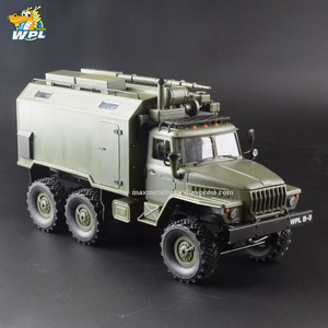 Image 2 - WPL B36 1:16 Ural RC Car 6WD Military Truck Rock Crawler Command Communication Vehicle KIT Toy Carrinho de controle
