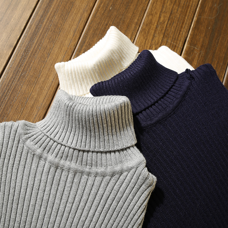 Sweater Men Casual Pullover Winter Thick Warm Cashmere Sweater Men Turtleneck Mens Sweaters Slim Fit Pullover Men Classic Wool