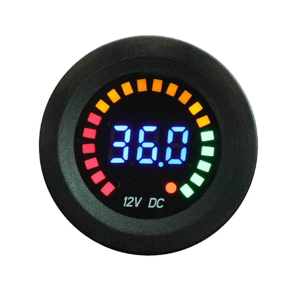 Универсальный светодиодный вольтметр для автомобиля, мотоцикла, лодки, 5-36 в, панель, монитор, Вольт-метр, дисплей, напряжение 12 В постоянного...