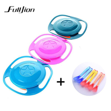 Baby Dishes Children Tableware Feeding Bowls Dinnerware Sets Toddler Plates For Baby Food Containers Dish Spill-Proof 360 Rotate