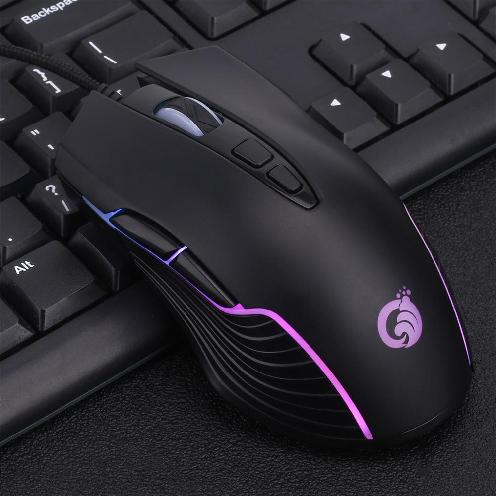 mouse gaming wired 4000DPI led RGB Back light Marquee Macro Definition Mouse 7 Button Professional Gamer Rechargeable Mice q70