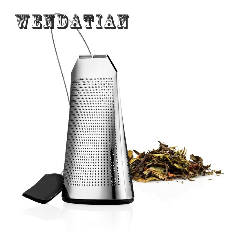 Kitchen Bar Teaware Tea Strainers 304 Stainless Steel Flat Tea Strainer Filter