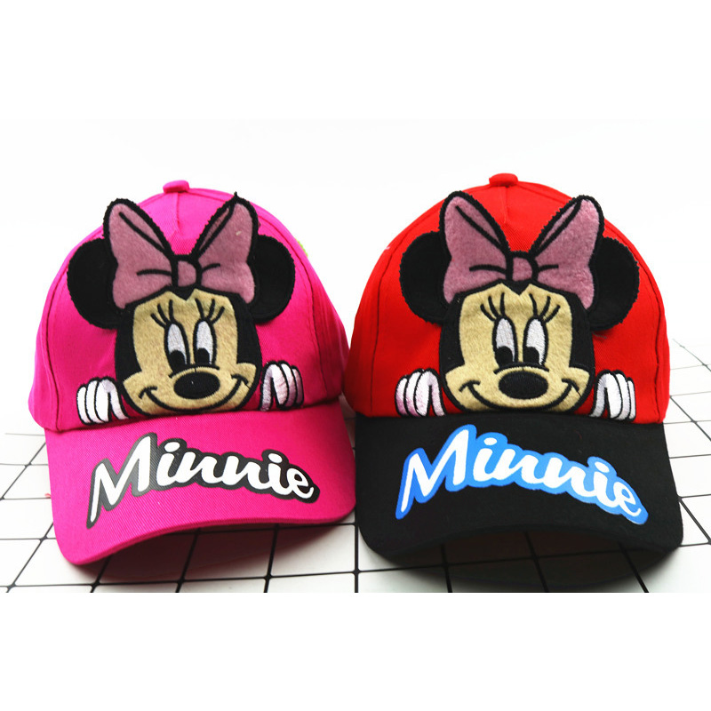 2018 New Hot Cartoon Mouse Mickey Minnie Children   Baseball   Hat Outdoor Sunscreen Adjustable   Baseball     Caps   For Kids Boys Girls