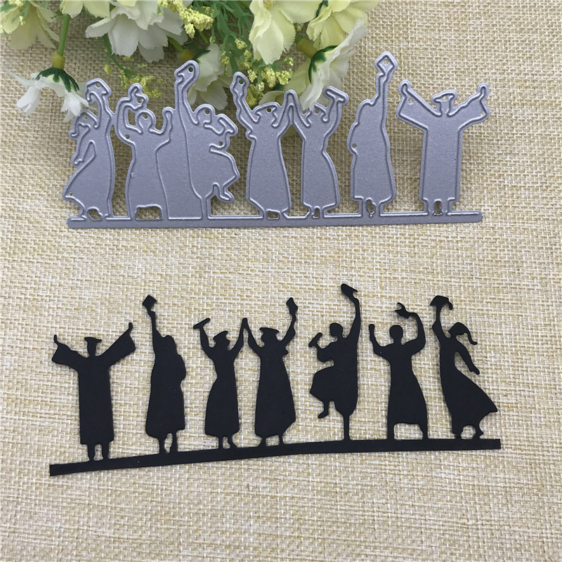 Happy Graduates Metal Cutting Dies Stencils For Card Making Decorative Embossing Suit Paper Cards Stamp DIY
