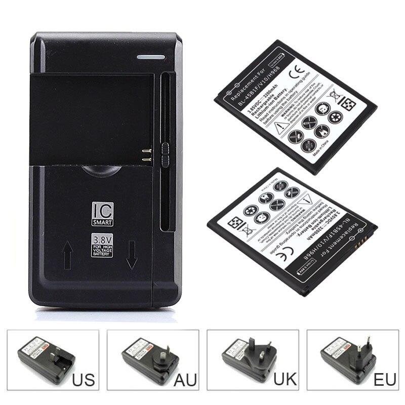 2&#215;3200 мАч Замена коммерческих Батарея для <font><b>LG</b></font> <font><b>V10</b></font> h968 bl-45b1f резервного копирования Мобильный телефон Батарея + usb-зарядное зарядное устройство