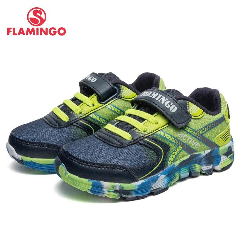 Palmilhas De Couro Marca FLAMINGO Spring & Summer Crianças Tamanho Sapatos de Caminhada 23-91K-JSZ-1301 28 Crianças Tênis para Menino/ 1302