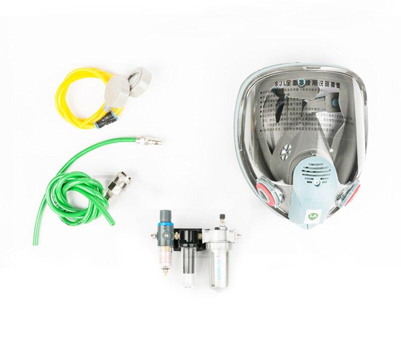 Kit de masque de gaz de respirateur de masque facial complet d'approvisionnement d'air de FB-8509 avec le filtre de 3 étapes pour le jet de peinture Y