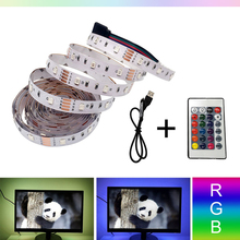 5V/6V USB RGB Led Strip TV 3528SMD 0.5M/1M/2M/3M/4M/5M Non-waterproof TV Background Lighting With USB IR Controller yixiang high quality background 1 6 x 1m 3m 2m 4m 5m 6m diy photography studio 100% non woven backdrop background screen