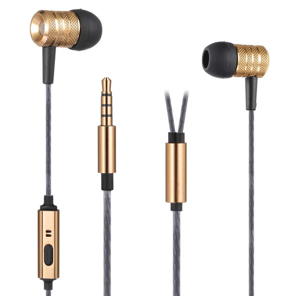 POYATU metalowe słuchawki i słuchawki basowy zestaw słuchawkowy DJ Studio słuchawki z mikrofonem Stereo Hifi Subwoofer Monitor słuchawki douszne