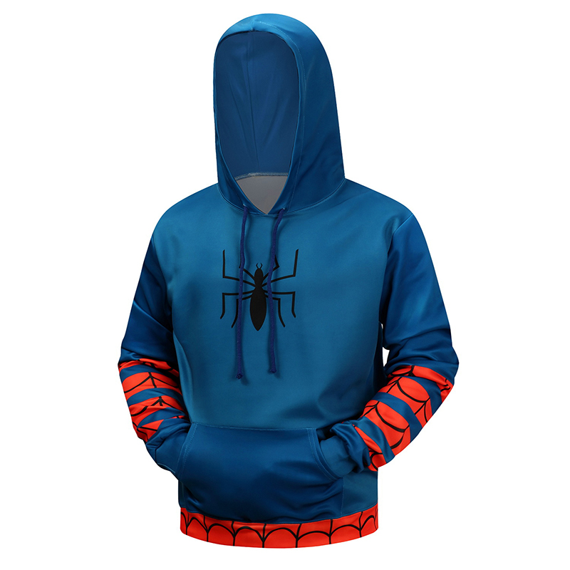 Hot Spiderman 3D Hoodies Men Brand Sweatshirts Printed Winter Autumn Pullover Fashion Novelty Tracksuit Hooded Hoodie Male Coat